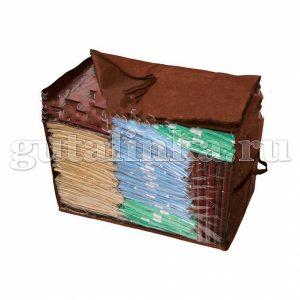 Чехол-ящик для хранения вещей 40х30х30 см с окошком ручками и молнией Магия Гуталина -