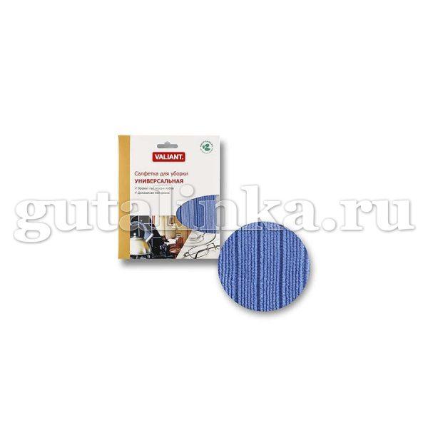 Салфетка для уборки из микрофибры универсальная VALIANT 30х30 см голубая - VAL D-B