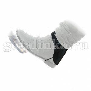 """Автопятка """"Безкаблучка"""" черная для женской обуви без каблука из кожзаменителя с тканевым подкладом Магия Гуталина одна штука - АБкз-1"""