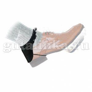 Автопятка мужская черная из кожзаменителя с тканевым подкладом Магия Гуталина одна штука - АМкз-1