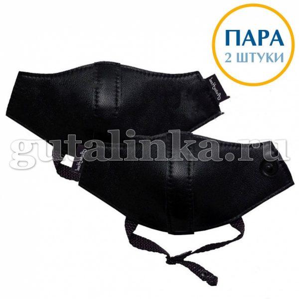 Автопятка Классическая AutoHeel черная для женской обуви на каблуке застёжка кнопка пара 2 шт - AH-1201/2