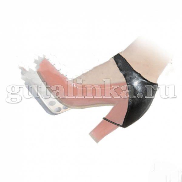 """Автопятка """"Классика"""" черная для обуви на каблуке из кожзаменителя с тканевым подкладом Магия Гуталина одна штука - АКкз-1"""