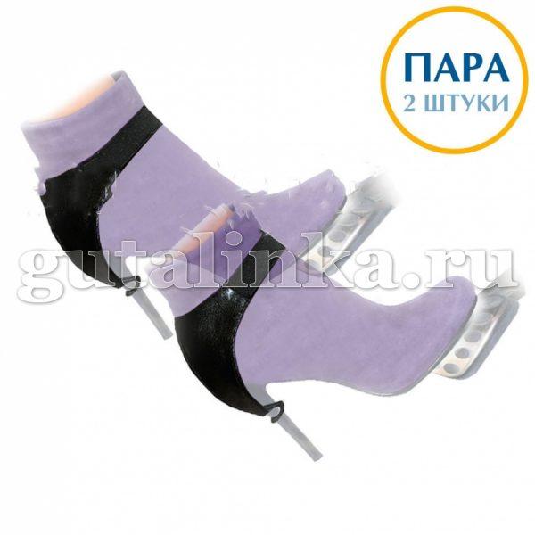 """Автопятка """"Классика"""" черная для обуви на каблуке из кожзаменителя с тканевым подкладом Магия Гуталина пара 2 шт - АКкз-2"""