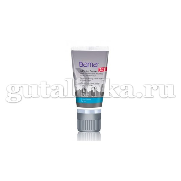 БАМА Гладкая кожа Крем 3 в 1 тюбик с губкой цветной 50 мл -