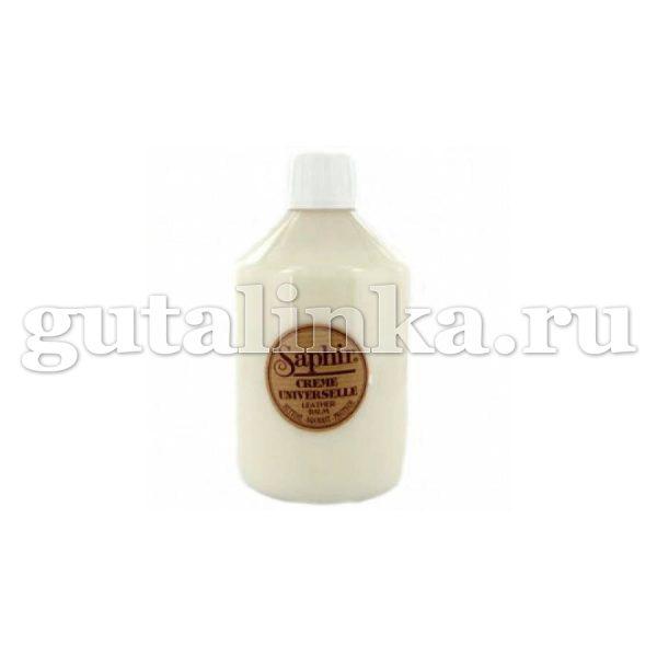 Очиститель-бальзам для всех видов гладких кож Creme Universelle SAPHIR большой пластиковый флакон 500 мл - sphr0905