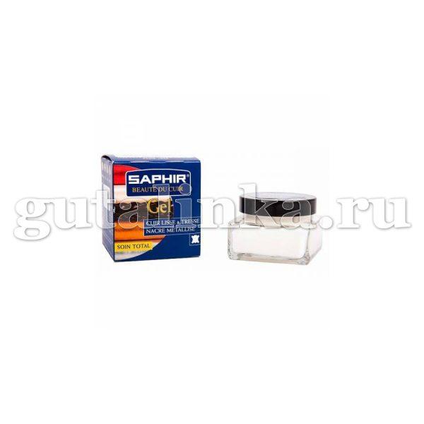 Гель Gel SAPHIR для кож рептилий и всех видов гладких деликатных кож банка стекло с салфеткой 50 мл - sphr0092