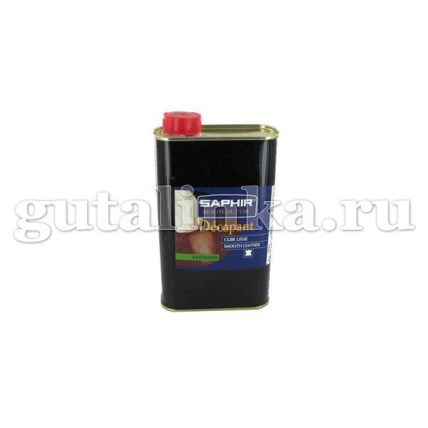 Очиститель для подготовки гладкой кожи к покраске Decapant SAPHIR большой жестяной флакон 500 мл - sphr0848
