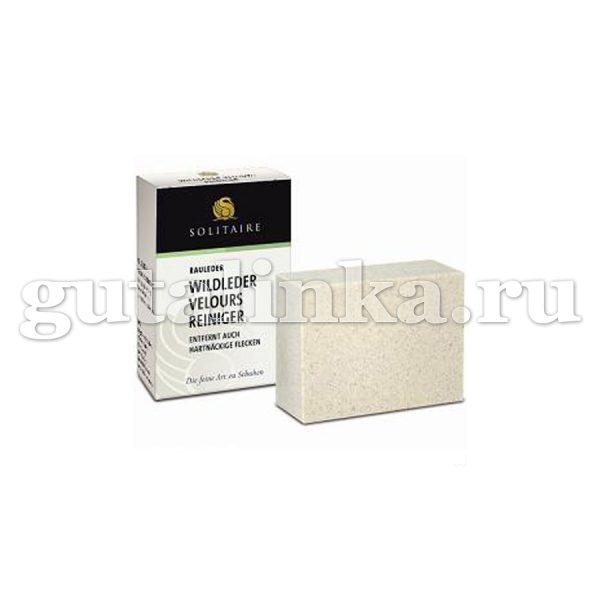 Ластик для удаления пятен с велюровых кож не для кожи нубук Velours Reiniger SOLITAIRE -