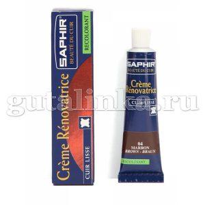 Восстановитель для гладких кож Creme Renovatrice SAPHIR жидкая кожа тюбик 25 мл -