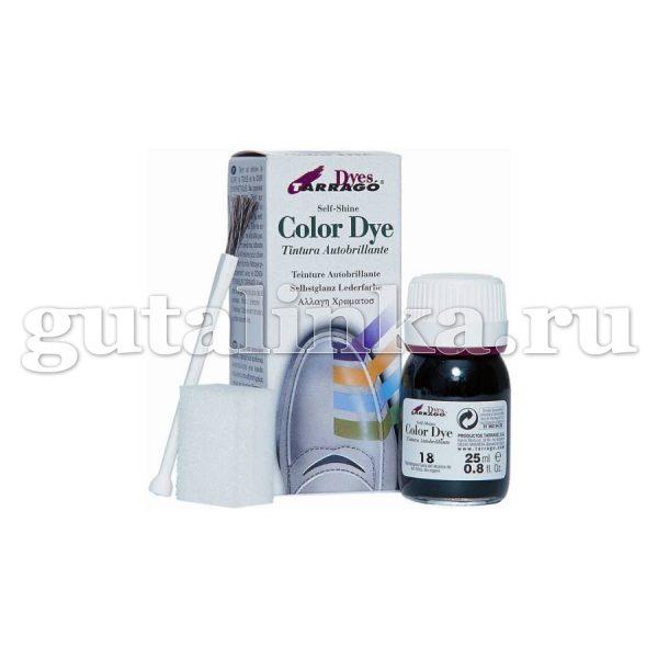 Краситель для любых гладких кож Color Dye TARRAGO стеклянный флакон 25 мл -