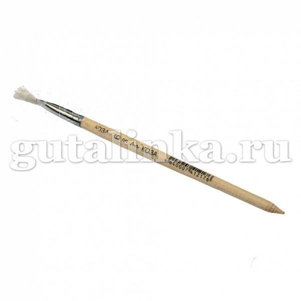 Кисть плоская 1 School светлый волос коза 6 ширина 6 мм - 340234
