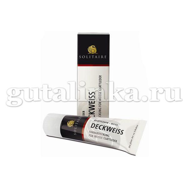 Крем-краска белая Deckweiss SOLITAIRE тюбик с губкой 75 мл - 905373