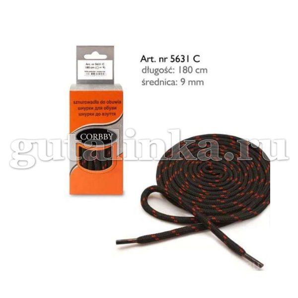 CORBBY Шнурки 180 см круглые 5 мм трекинговые полиэстер цветные -