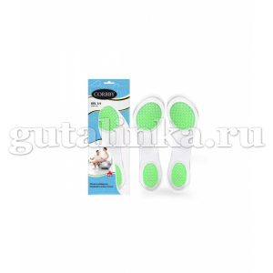 Гелевые тонкие стельки GEL 34 CORBBY с амортизирующими вставками 1 пара - corb1624c