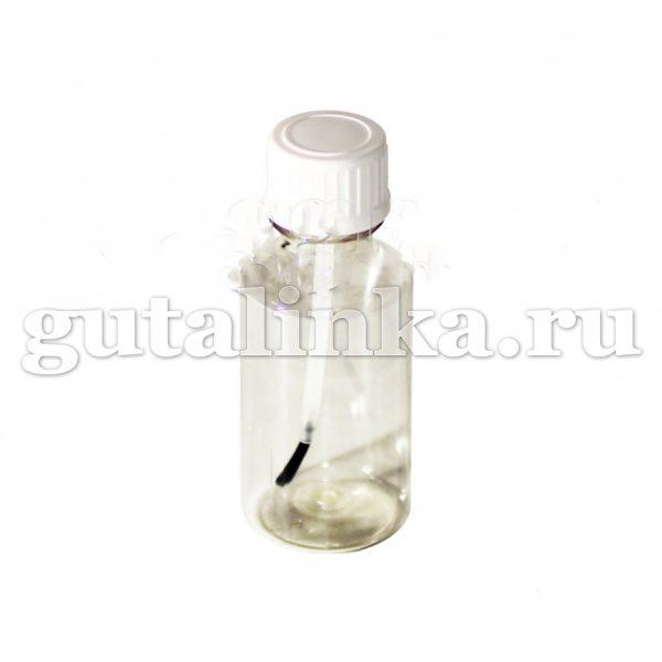 Флакон ПЭТФ прозрачный с кисточкой для покраски смешивания и хранения красок 30 мл ГАЙ-К - 1125/9605