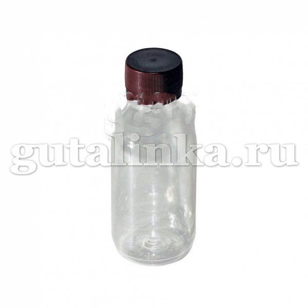 Флакон ПЭТФ прозрачный для смешивания и хранения красок и бытовой химии с крышкой 125 мл ГАЙ-К - 1266/9501