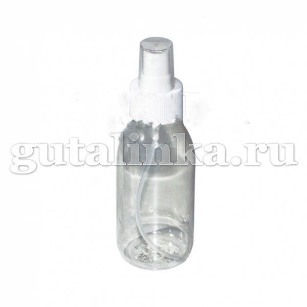 Флакон ПЭТФ прозрачный с распылителем кнопочным для смешивания хранения и нанесения красок и бытовой химии 125 мл ГАЙ-К - 1266/9503