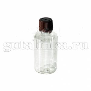 Флакон ПЭТФ прозрачный для смешивания и хранения красок и бытовой химии с крышкой 55 мл ГАЙ-К - 1262/9138