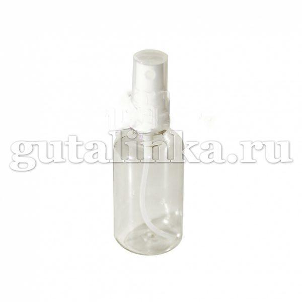 Флакон ПЭТФ прозрачный с распылителем кнопочным для смешивания хранения и нанесения красок и бытовой химии 55 мл ГАЙ-К - 1262/9602