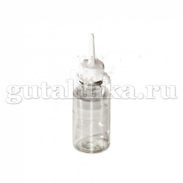 Флакон ПЭТФ прозрачный для колорирования и хранения красок и бытовой химии с колпачком-пипеткой 30 мл ГАЙ-К - 1125/9166