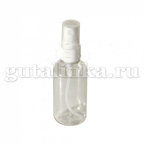 Флакон ПЭТФ прозрачный с распылителем кнопочным для смешивания хранения и нанесения красок и бытовой химии 30 мл ГАЙ-К - 1125/9602