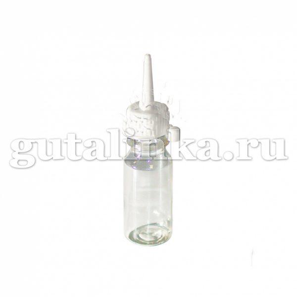Флакон ПЭТФ прозрачный для колорирования и хранения красок и бытовой химии с колпачком-пипеткой 15 мл ГАЙ-К - 1207/9166