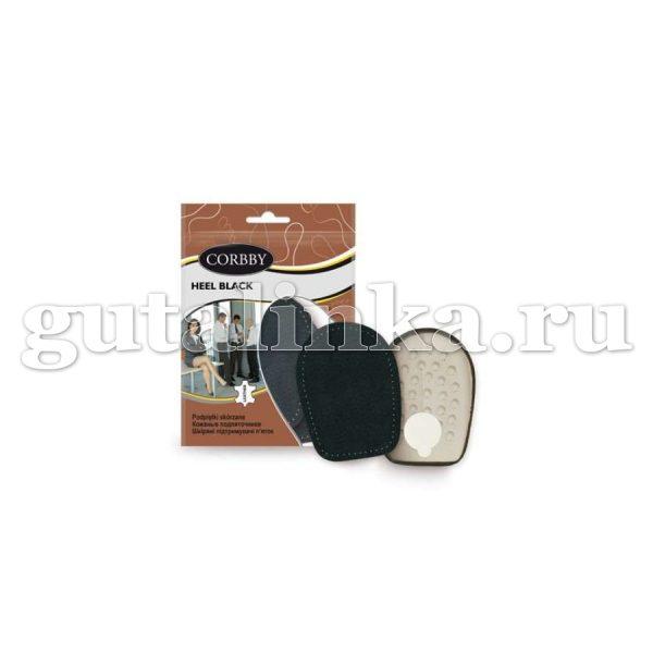 Подпяточник CORBBY HEEL Black черный из натуральной кожи и латекса -