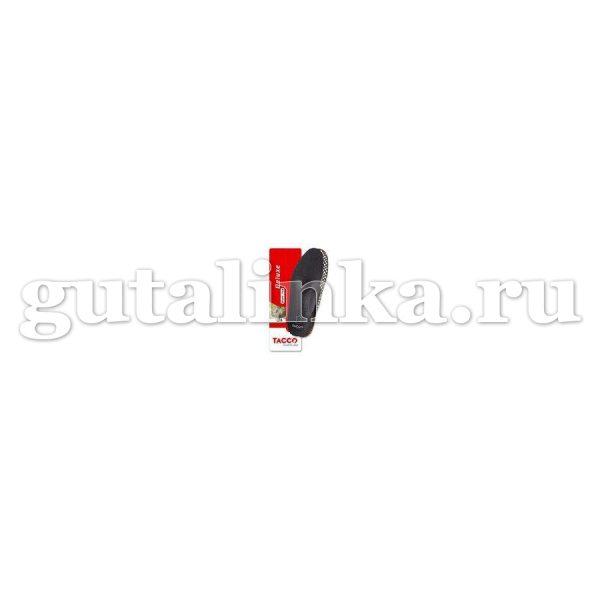 Стелька-супинатор TACCO footcare Deluxe Black из натуральной кожичерные -