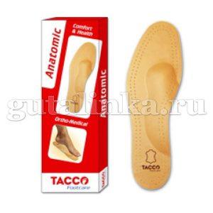 TACCO footcare Стелька мягкая Anatomic из овечьей кожи для поддержки сводов стопы при плоскостопии -