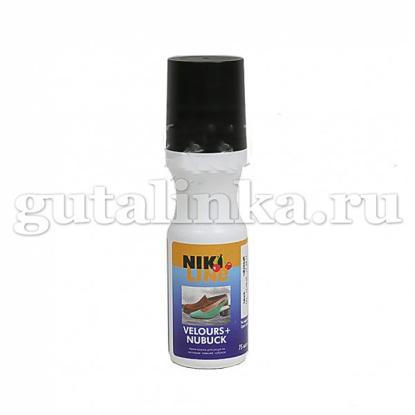 Крем-краска для велюра замши нубука VeloursNubuk NIKI LINE флакон с губкой 75 мл -