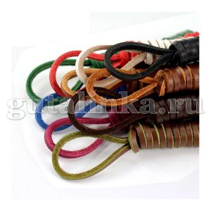 BERGAL Шнурки кожаные квадратные 3 х 3 мм 150 см цветные -