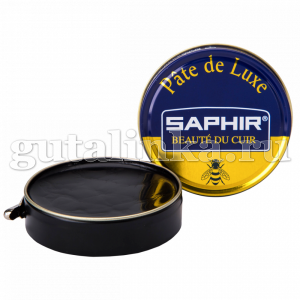 Крем банка 100 мл для гладкой кожи Pate de luxe SAPHIR цветной железная банка -