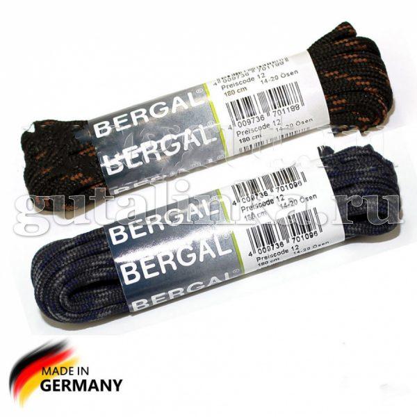 BERGAL Шнурки круглые для ботинок для альпинизма 180 см цветные -