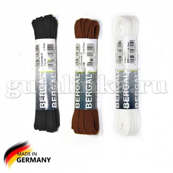 BERGAL Шнурки плоские широкие 200 см цветные -