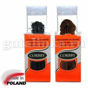 CORBBY Шнурки 100см круглые толстые черные коричневые -
