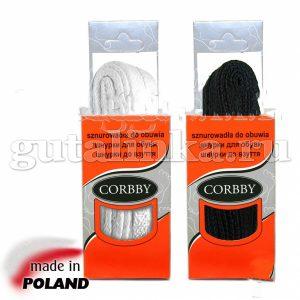 CORBBY Шнурки 100см плоские черные белые -