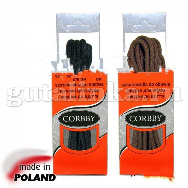 CORBBY Шнурки 75см круглые тонкие черные коричневые -