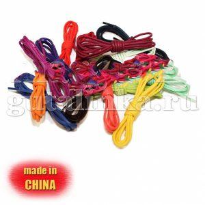 Шнурки овальные средние вощеные 70 см сечение 43 мм цветные -