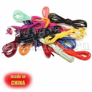 Шнурки овальные тонкие вощеные 70 см сечение 32 цветные -