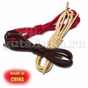 Шнурки круглые тонкие вощеные 90 см диаметр 2 мм цветные -