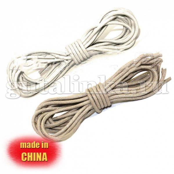 Шнурки круглые средние вощеные 175 см диаметр 3 мм цветные -