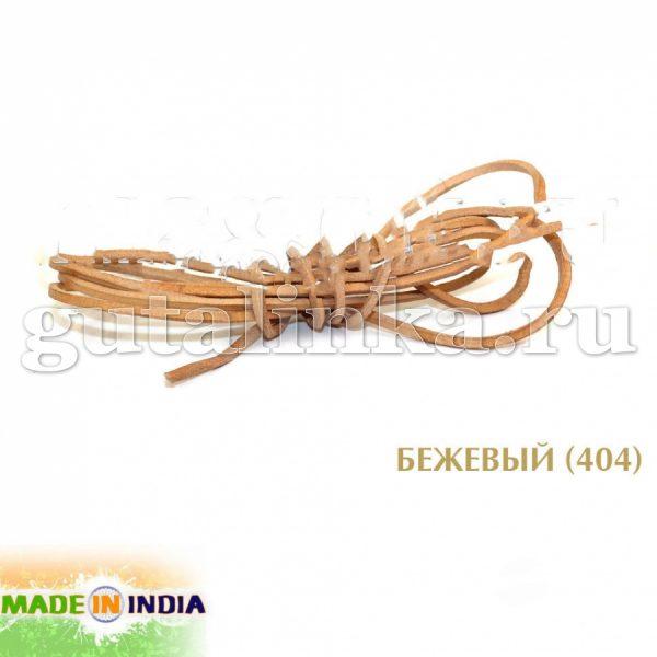 Шнурок из натуральной кожи квадратный 3 х 3 мм натуральный - ШККв33-НТ