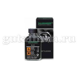 Краситель чёрный Black Glattleder SALAMANDER Professional стеклянный флакон 50 мл - 8178