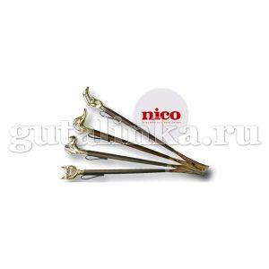 Дизайнерский рожок для обуви NICO Золото Дерево Пластик 57 см -
