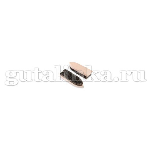 Щётка обувная Стрелка 160Х47Х16 118 пучков бук воск натуральная щетина светлая тёмная ЭКОБРАШ -