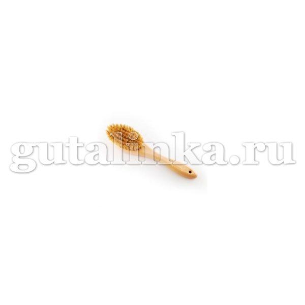 Щётка одёжная с ручкой Овальная 240Х54Х16 79 пучков бук воск натуральная щетина светлая ЭКОБРАШ - Р/210