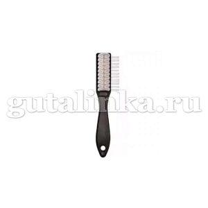 Щётка для обуви для кожи велюрнубук с натуральным каучуком Stielburste Naturkrepp SOLITAIRE - 904533