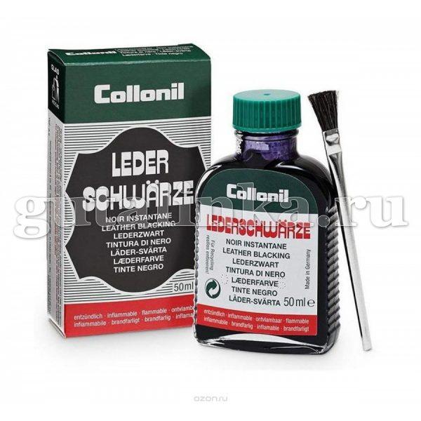 Жидкость-краска для гладкой кожи Lederschwarze COLLONIL стеклянный флакон и кисточкой чёрный 50 мл - 5192751