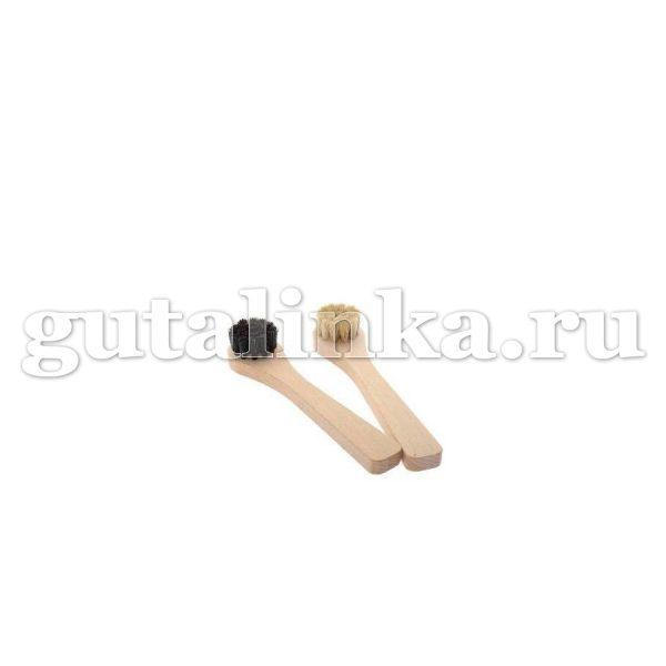 Щетка-Намазок круглая SALRUS дерево натуральный ворс малая -