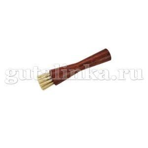 Щетка-Намазок круглая La Cordonnerie 11 см темная колодка деревосветлый натуральный волос - sphr2603019